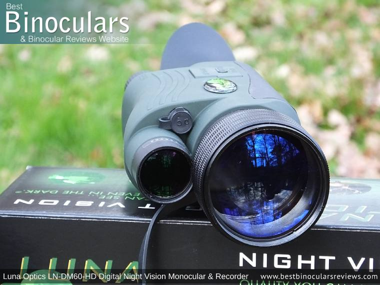 Built-in IR illuminator on the Luna Optics LN-DM60-HD Digital Night Vision Monocular & Recorder