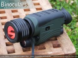 Luna Optics LN-DM60-HD Digital Night Vision Monocular & Recorder showing tripod mount