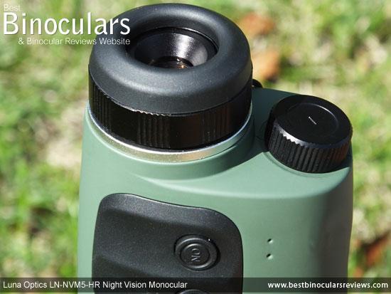 Eyepiece on the Luna Optics LN-NVM5-HR Night Vision Monocular