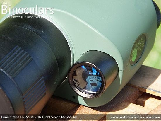 Built-in IR illuminator on the Luna Optics LN-NVM5-HR Night Vision Monocular