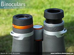 Eyecups on the Maven B2 11x45 Binoculars