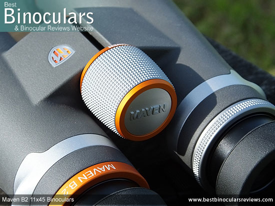 Focus Wheel on the Maven B2 11x45 Binoculars