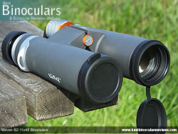 Objective Lens Covers on the Maven B2 11x45 Binoculars