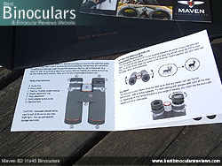 Instruction Manual for the Maven B2 11x45 Binoculars