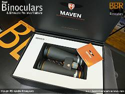 Box & packaging for the Maven B5 18x56 Binoculars