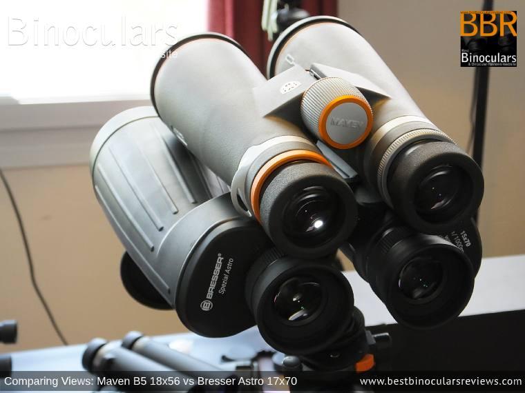 Comparing Views: Maven B.5 18x56 Binoculars vs Bresser Spezial Astro 15x70 Binoculars