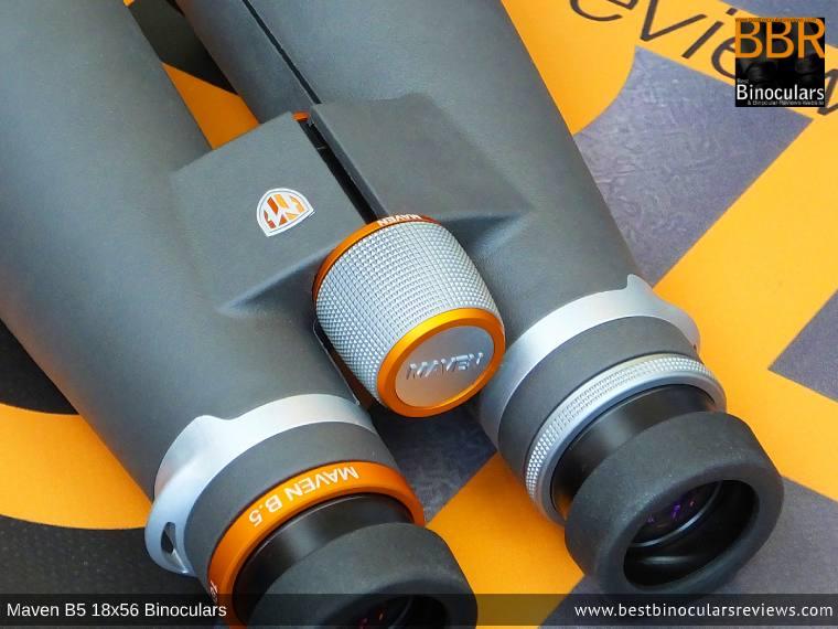 Focus Wheel on the Maven B.5 18x56 Binoculars