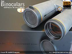 Objective Lens Covers on the Maven B5 18x56 Binoculars