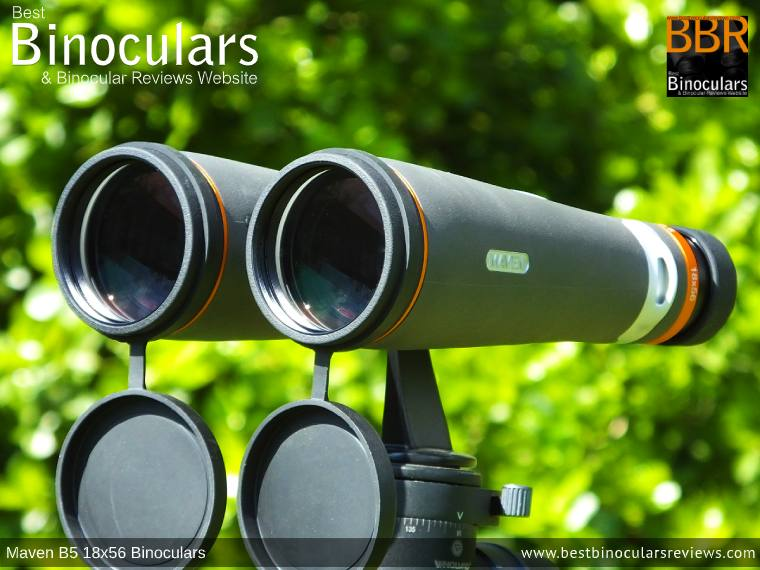 Objective Lenses on the Maven B.5 18x56 Binoculars