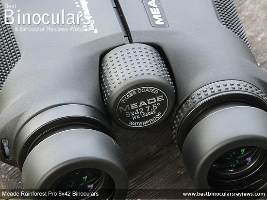 Focus Wheel on the Meade Rainforest Pro 8x42 Binoculars
