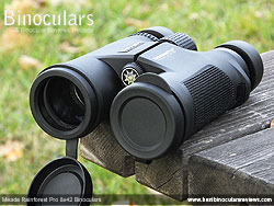 Lens Covers on the Meade Rainforest Pro 8x42 Binoculars