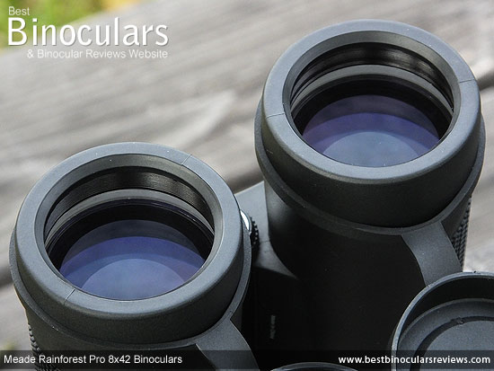 42mm Objective Lenses on the Meade Rainforest Pro 8x42 Binoculars