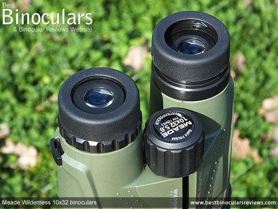Eyecups on the Meade Wilderness 10x32 Binoculars