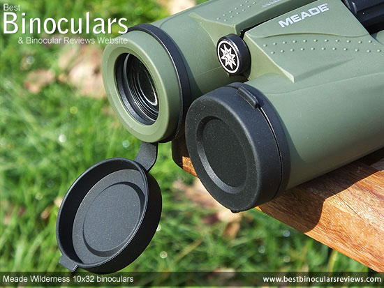 Lens Covers on the Meade Wilderness 10x32 Binoculars