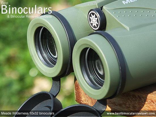 50mm Objective Lenses on the Meade Wilderness 10x32 Binoculars