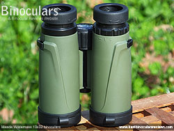 Underside view of the Meade Wilderness 10x32 Binoculars