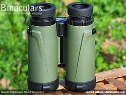 Underside view of the Meade Wilderness 10x32 Binoculars
