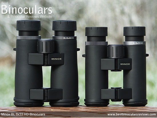 Comparing the Minox BL 8x33 HD Binoculars with the 8x44 Version