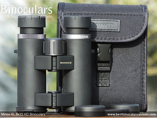 Minox BL 8x33 HD Binoculars, with carry case