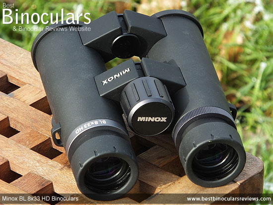 Focus wheel on the Minox BL 8x33 HD Binoculars