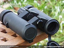 Objective Lens Covers on the Minox BL 8x33 HD Binoculars