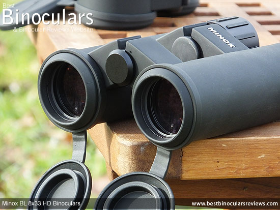 33mm Objective Lenses on the Minox BL 8x33 HD Binoculars