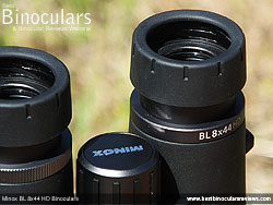 Eyecups on the Minox BL 8x44 HD Binoculars