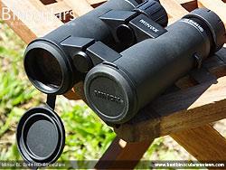 Lens Covers on the Minox BL 8x44 HD Binoculars