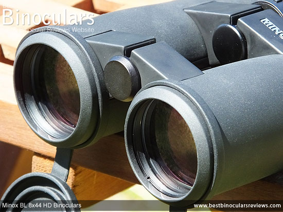 43mm Objective lenses on the Minox BL 8x44 HD Binoculars