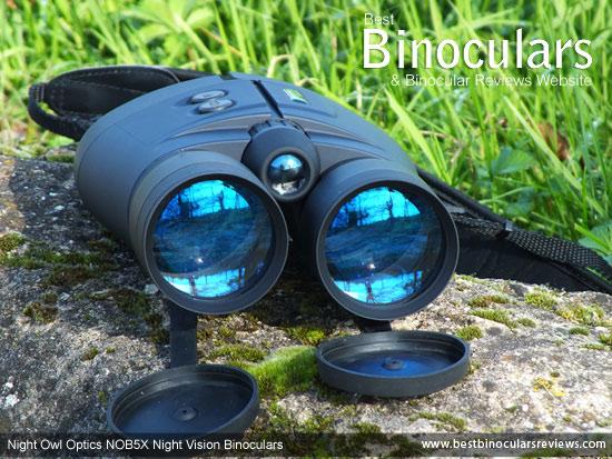 Lenses on the Night Owl Optics NOB5X Night Vision Binoculars