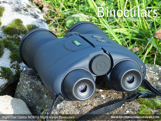 Rear view of the Night Owl Optics NOB5X Night Vision Binoculars