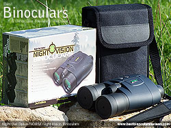 Box, Case, Neck Strap and the Night Owl Optics NOB5X Night Vision Binoculars
