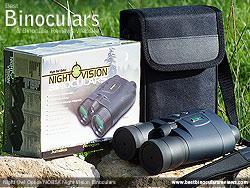 Box, Case, Neck Strap and the Night Owl Optics NOB5X Night Vision Binoculars