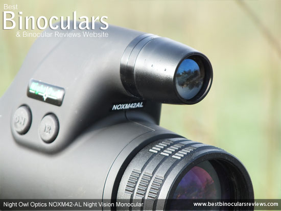 Built-in IR illuminator on the Night Owl NOXM42-AL Night Vision Monoculars