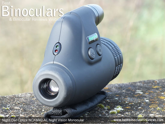 Eyepiece on the Night Owl Optics NOXM42-AL Night Vision Monoculars