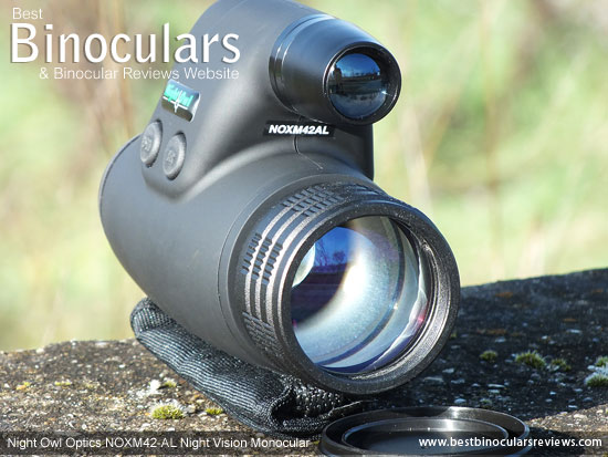 Objective Lens on the Night Owl NOXM42-AL Night Vision Monoculars