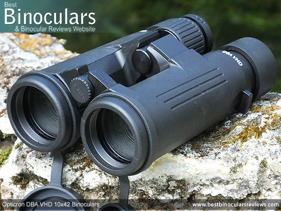 42mm objective lenses on the Opticron DBA VHD 10x42 Binoculars