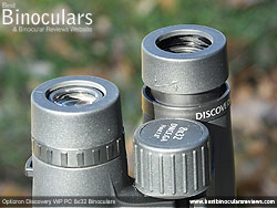 Eyecups on the Opticron Discovery WP PC 8x32 Binoculars