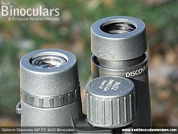Eyecups on the Opticron Discovery WP PC 8x32 Binoculars
