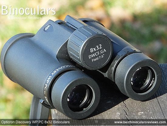 Focus Wheel on the Opticron Discovery WP PC 8x32 Binoculars