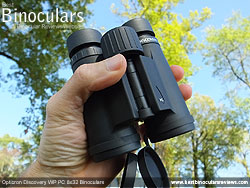 Size of the Opticron Discovery WP PC 8x32 Binoculars