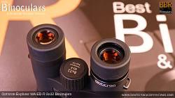 Eyecups on the Opticron Explorer WA ED-R 8x32 Binoculars