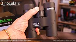Holding the Opticron Explorer WA ED-R 8x32 Binoculars