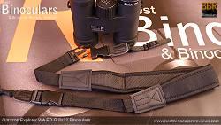 Neck strap on the Opticron Explorer WA ED-R 8x32 Binoculars