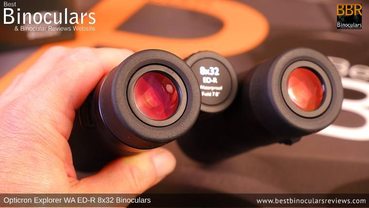 Ocular Lenses on the Opticron Explorer WA ED-R 8x32 Binoculars
