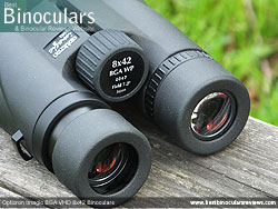 Eyecups on the Opticron Imagic BGA VHD 8x42 Binoculars