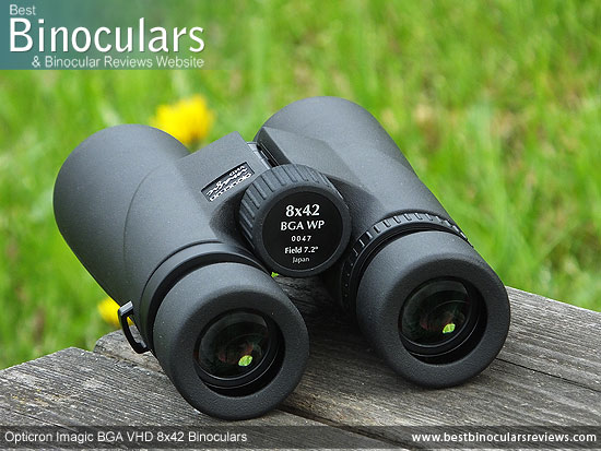 Focus Wheel on the Opticron Imagic BGA VHD 8x42 Binoculars