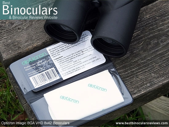 Instructions & Warranty Info for the Opticron Imagic BGA VHD 8x42 Binoculars