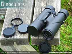 Objective Lens Covers on the Opticron Imagic BGA VHD 8x42 Binoculars
