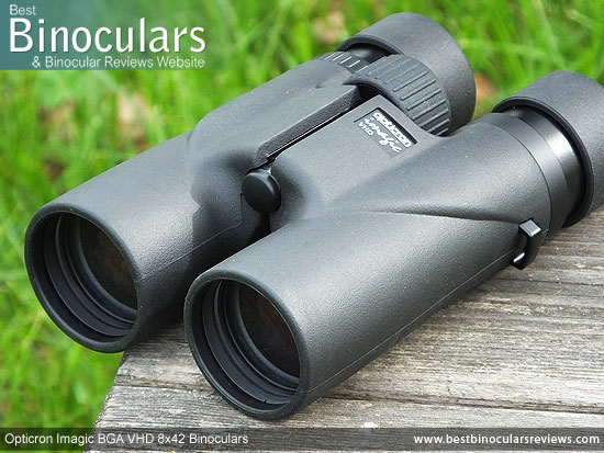 42mm Objective Lenses on the Opticron Imagic BGA VHD 8x42 Binoculars